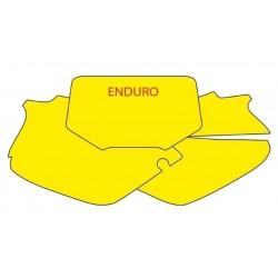 NUMBER-CARRYING ADHESIVE KIT BLACKBIRD ENDURO MODEL FOR HONDA XR 250/400 1996/2004