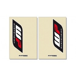 PAIR OF STICKERS FOR BLACKBIRD FORK SLIDERS MODEL WP FOR KTM, TRANSPARENT