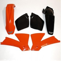 PLASTIC KITS UFO AS ORIGINAL FOR KTM SX/SX-F 2001/2002 (NO CYLINDERS LESS THAN CC 125)