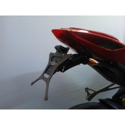 ADJUSTABLE ALUMINUM LICENSE PLATE HOLDER FOR MV AGUSTA F3 675 2012/2019