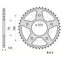 ALUMINIUM REAR SPROCKET FOR 520 CHAIN FOR BMW HP4 2013/2014