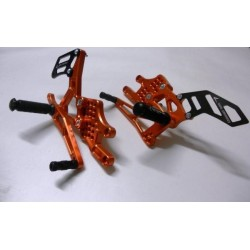 ADJUSTABLE REAR SETS 4-RACING FOR KTM RC8 2008/2013 (standard and reverse shifting)