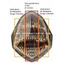 FANALE POSTERIORE A LED CON INDICATORI DI DIREZIONE INTEGRATI PER KAWASAKI Z 750/R 2007/2011, Z 1000 2007/2009, ZX-10R 2008/2009