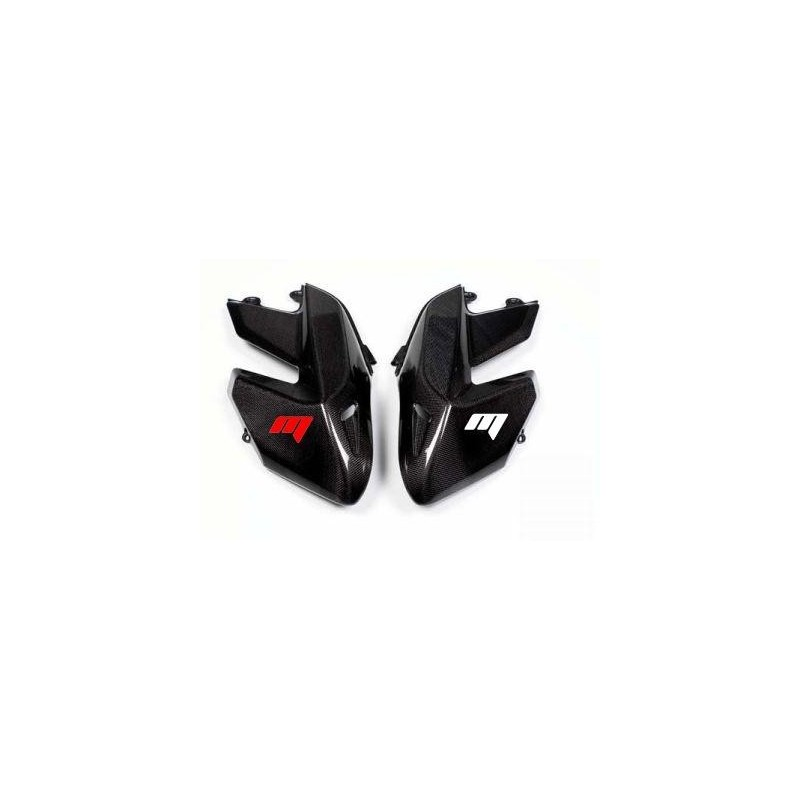 PAIR OF CARBON FIBER FRONT SIDE PANELS FOR DUCATI HYPERMOTARD 1100/S 2007/2009