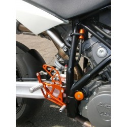 FIXED 4-RACING REAR SETS FOR KTM SUPER DUKE 990 (standard and reverse shifting)