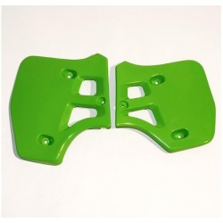 PAIR OF UFO RADIATOR SIDE PANELS AS ORIGINAL FOR KAWASAKI KX 500 2000/2002