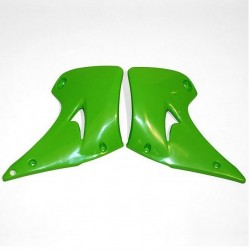 PAIR OF UFO RADIATOR SIDE PANELS AS ORIGINAL FOR KAWASAKI KX 125/250 2003/2013