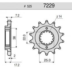 525 CHAIN STEEL PIN FOR HYPERMOTARD 796 2010/2012