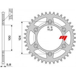 ALUMINIUM REAR SPROCKET FOR 520 CHAIN FOR DUCATI MONSTER 620 2004/2006, MONSTER 1000 2003/2005 (Z 41/48)