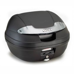 MONOLOCK BOX GIVI E340NT VISION TECH, BLACK WITH SMOKED REFLECTORS WITH PLATE AND UNIVERSAL KIT