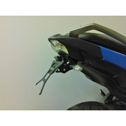 ADJUSTABLE ALUMINUM LICENSE PLATE HOLDER FOR BMW C 600 SPORT 2012/2015 (REQUIRES REMOVAL OF THE ORIGINAL PLASTIC)