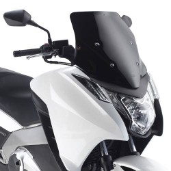 GIVI WINDSHIELD LOW SPORT FOR HONDA INTEGRA 700 2012/2013, INTEGRA 750 2014/2020, GLOSS BLACK