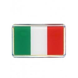 3D FLAG STICKER ITALY 50x30 mm