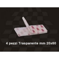 ADESIVO DUAL LOCK CON SISTEMA DI FISSAGGIO REMOVIBILE AD INCASTRO, TRAPARENTE mm 20x60 4pz.