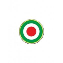 3D STICKER ITALIAN FLAG COCCARDA DIAMETER 50 mm