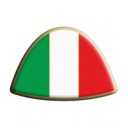 3D STICKER ITALY FLAG TRIM VERSION MODEL 3 mm 75x50
