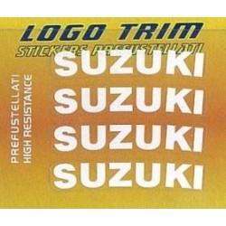 "ADHESIVE SET TRIM SERIES WITH ""SUZUKI"" LOGO, WHITE COLOR h 5 mm"