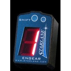 GEAR INDICATOR ENGAGED WITH ENGEAR STARLANE RUNNING FLASH
