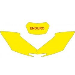 KIT ADESIVI PORTANUMERO BLACKBIRD MODELLO ENDURO PER HONDA CRE 450 F 2013/2014