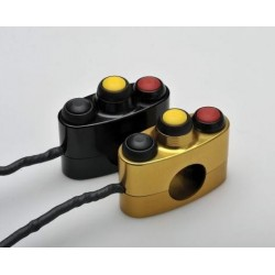 STM 3-BUTTON UNIVERSAL HANDLEBAR ELECTRIC SWITCH