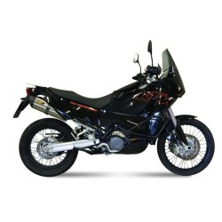 PAIR OF MIVV SOUND EXHAUST SYSTEMS IN STAINLESS STEEL WITH CARBON BASE FOR KTM 950/990 ADVENTURE, APPROVED