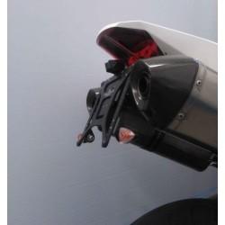 ADJUSTABLE ALUMINUM LICENSE PLATE SUPPORT FOR KTM 990 SUPER DUKE R 2007/2013