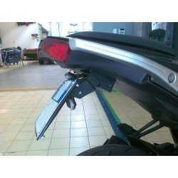 ADJUSTABLE ALUMINUM LICENSE PLATE HOLDER FOR KAWASAKI Z 1000 SX 2011/2016 EQUIPPED WITH GIVI or KAPPA SIDE PANEL HOLDER