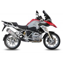 EXHAUST MIVV OVAL TITANIUM WITH CARBON BASE FOR BMW R 1200 GS 2013/2018, APPROVED