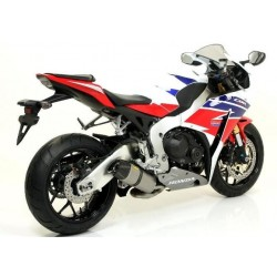 TITANIUM INDY RACE ARROW EXHAUST PIPE WITH CARBON BASE FOR HONDA CBR 1000 RR 2008/2013, APPROVED