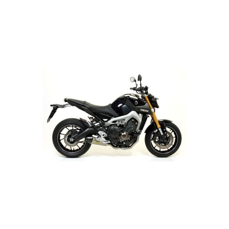 COMPLETE EXHAUST SYSTEM ARROW WITH CARBON-BACK STEEL X-KONE TERMINAL FOR YAMAHA MT-09 2013/2019