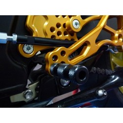 PEDANE ARRETRATE REGOLABILI 4-RACING PER SUZUKI GSR 750 2011/2016 (cambio standard)