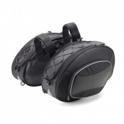 PAIR OF EXTENDABLE SIDE SOFT BAGS KAPPA RA310 CAPACITY 17/30 LITERS