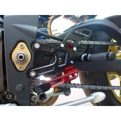 FIXED 4-RACING REAR SETS FOR TRIUMPH STREET TRIPLE 675 2011/2016 (standard shifting)