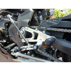FOOTRESTS FIXED 4-RACING FOR TRIUMPH STREET TRIPLE 675 2011/2016 (reverse shifting)
