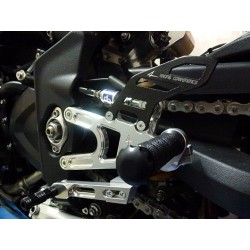 FOOTRESTS FIXED 4-RACING FOR TRIUMPH DAYTONA 675 R 2013/2015 (reverse shifting)