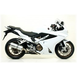 ARROW RACE-TECH ALUMINUM EXHAUST TERMINAL CARBON BASE FOR HONDA VFR 800 F 2014/2016*, APPROVED