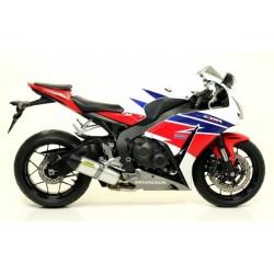 ARROW INDY RACE EXHAUST TERMINAL IN ALUMINUM CARBON BASE FOR HONDA CBR 1000 RR 2014/2016, APPROVED