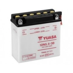 BATTERY YUASA 12N5.5-3B FOR YAMAHA YZF R-125 2008/2013