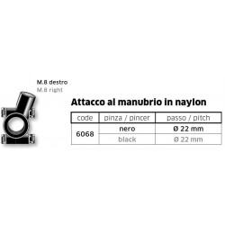 ATTACCO A MANUBRIO FAR PER SPECCHI RETROVISORI CON ATTACCO M8
