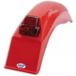 UNIVERSAL VINTAGE UFO REAR FENDER WITH TAIL LIGHT FOR 125cc-250cc-500cc YEARS 1979-1989
