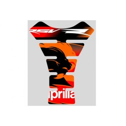 TANK PROTECTION STICKER WITH APRILIA LOGO COLOR RED/BLACK