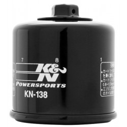 K&N 138 OIL FILTER FOR SUZUKI V-STROM 1000 2002/2016, V-STROM 650 2004/2016, TL 1000 S/R