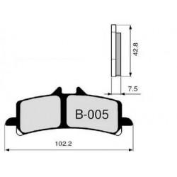 CARBON-CERAMIC PADS SET ZCOO B005 EX FOR DUCATI 848 EVO 2011/2013, 1098/S 2007/2008, 1098 R 2008/2010