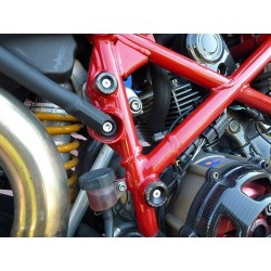 KIT TAPPI TELAIO 4-RACING PER DUCATI HYPERMOTARD 1100 EVO/SP 2010/2011