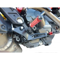 ADJUSTABLE REAR SETS 4-RACING FOR DUCATI HYPERMOTARD 821 2013/2015