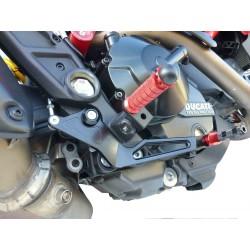 ADJUSTABLE REAR SETS 4-RACING FOR DUCATI HYPERMOTARD 821 2013/2015