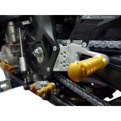 PEDANE ARRETRATE REGOLABILI 4-RACING PER BMW S 1000 RR 2015/2018 (cambio normale e rovesciato)