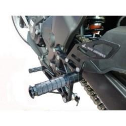 4-RACING ADJUSTABLE REAR SETS FOR HONDA CBR 250 R 2011/2014 (standard shifting)