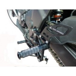 PEDANE ARRETRATE REGOLABILI 4-RACING PER HONDA CBR 250 R 2011/2014 (cambio standard)