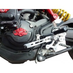 ADJUSTABLE REAR SETS 4-RACING RACE MODEL FOR DUCATI HYPERMOTARD 821 2013/2015 (standard shifting)